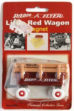 Vtg 1998 Radio Flyer Little Red Wagon Refrigerator Magnet Ornament Trav-Ler Ball