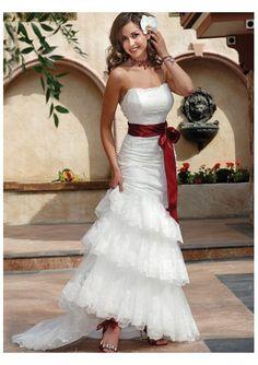 Red/White Wedding Dress