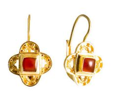 Gold and Ruby Earrings