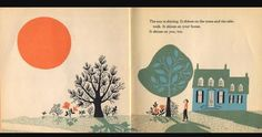 This book does not use much color but uses shadows and more monotone colors to convey the image