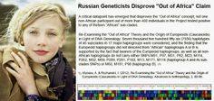 "Russian Geneticists Disprove ""Out of Africa"" Theory"