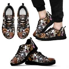 Pit Bull Lovers Sneakers Unisex Design Brown in Clothing, Shoes & Accessories, Unisex Clothing, Shoes & Accs, Unisex Adult Shoes Dog Pattern, Animal Design, Miu Miu Ballet Flats, Wearable Art, Pitbulls, Custom Design, Louis Vuitton, Unisex, Brown