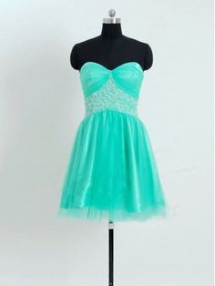 Mint or teal homecoming dress