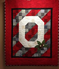 Ohio State Quilt- so pretty!!!!!