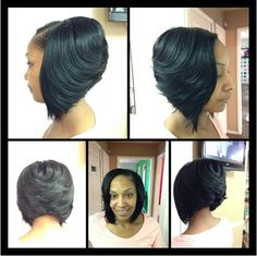 cute work hairstyles : Sew ins, Bobs and Sew on Pinterest