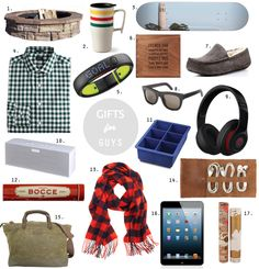 Where the Sidewalk Begins: Gift Guides 2013: Gifts for Men #holiday #gifts
