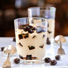 Espresso pudding coffee jelly