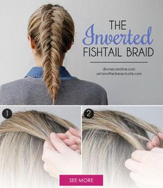 Inverted Dutch fishtail braid ~ Make a couple of changes to your regular French fishtail, and turn that braid inside out!
