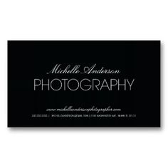 Photography Business Cards Tips Logan Card Design