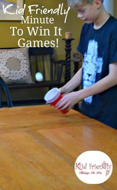 Kid Friendly Easy Minute To Win It Games for Your Party   DIY     Kid Friendly Easy Minute To Win It Games for Your Party