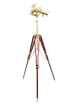 Handcrafted Tripod and Lamp with Antique looks and LED Color changing light from the lamp. Tripod Lamp, Led Lamp, Spotlight Lamp, Hollywood Cinema, Color Changing Lights, Picture Logo, Unique Lamps, High Quality Images