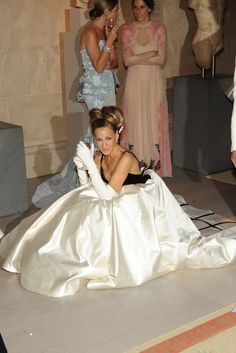 Sarah Jessica Parker in Oscar de la Renta and Fred Leighton [Photo by Steve Eichner]