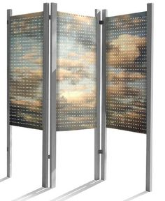 Portable Gallery Pegboard Display   Clouds