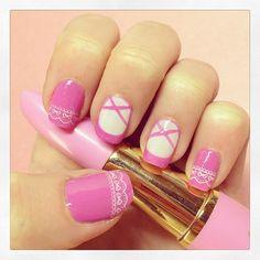 ballerina ballet by @mari_y0n  #nail #nails #nailsart