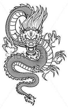Illustration of Traditional Asian Dragon vector art, clipart and stock vectors. Image Traditional Asian Dragon Nicholas Abbass nicholasabbass New Illustration of Traditional Asian Dragon vector art, clipart and stock vectors. Dragon Tattoo For Women, Japanese Dragon Tattoos, Dragon Tattoo Designs, Chinese Dragon Drawing, Dragon Tattoo Drawing, Dragon Tattoo Back, Tribal Dragon Tattoos, Small Dragon Tattoos, Back Tattoo Women