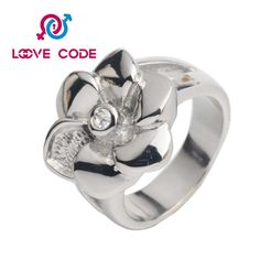 Cheap unique stainless steel cz wedding rings for women