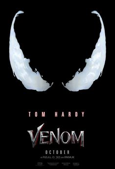 Venom Gets an Official Poster; Trailer Arrives Tomorrow Sony has released an official poster for the Venom movie starring Tom Hardy, ahead of the first trailer dropping online sometime tomorrow. Film Venom, Venom Movie, Most Popular Horror Movies, All Horror Movies, Tom Hardy, Scary Movie List, Scary Films, Kung Fury, 2018 Movies