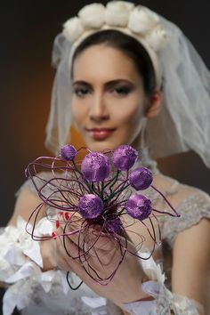 Not an usual bridal bouquet. OOAK wedding by RattleTattleAround, $250.00