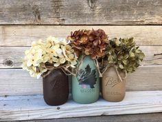Fall Mason Jars Fall Mason Jar Decor Lighted Mason Jars for Mason Jar Art, Fall Mason Jars, Painted Mason Jars, Mason Jar Crafts, Fall Mantle Decor, Fall Home Decor, Rustic Lodge Decor, Fall Wreath Tutorial, Thanksgiving Decorations