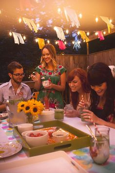 A Colorful Summertime Back Porch Party www.abeautifulmess.com