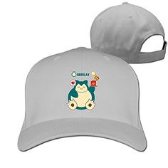 DETED Hungry Snorlax Baseball Cap Hat Ash *** Be sure to check out this awesome product.