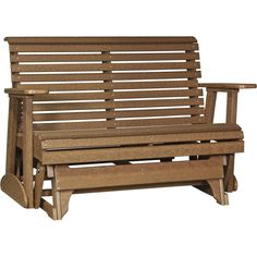 LuxCraft Rollback Recycled Plastic 4ft. Patio Glider - Antique Mahogany