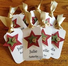 Tag Topper Punch Tag - use as inspiration Holiday Gift Tags, Christmas Gift Wrapping, Christmas Paper, Handmade Christmas, Christmas Star, Christmas Trees, Christmas Stockings, Handmade Gift Tags, Card Tags