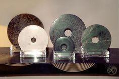 Jade Bi disks by Andrew Martin  #jade #bidisk #china #furniture #ancientart #disk