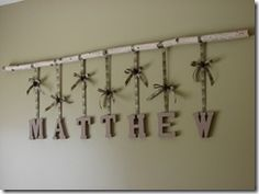 Camo Wall Decor - This is so cute And we could def do this with the letters we already have for Anthony s name Camo Rooms, Baby Shower Camo, Camo Baby Stuff, Rustic Wall Decor, Boy Room, Nursery Room, Nursery Themes, My Living Room, Kids Bedroom