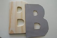 How to Modge Podge your own wooden letters