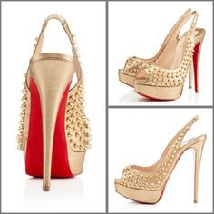 christian louboutin lady peep sling spikes
