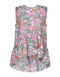Plain weave Frills Floral design Round collar Sleeveless No pockets Isa Arfen, Round Collar, Silk Top, World Of Fashion, No Frills, Luxury Branding, Weave, Floral Design, Pockets