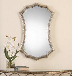 """Uttermost Mesdoura Silver Champagne Mirror  19 x 30"""""""