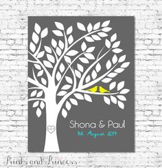 Printable  Wedding Guest Book Tree by PrintsandPrincessArt on Etsy