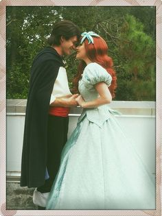 "partofyourwdworld: "" Ariel & Prince Eric They are too precious! """