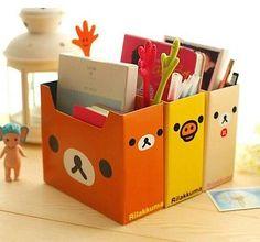 3pcs Cute Rilakkuma DIY CardBoard Storage Box Pen Holder Books Organizer Box in Home & Garden,Household Supplies & Cleaning,Home Organization | eBay