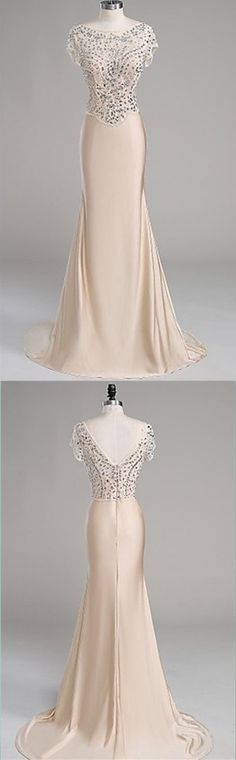 Charming Long Evening Dress,Luxury Beaded Mermaid Evening Dresses,Formal Evening Dresses,Women Dress by fancygirldress, $185.00 USD