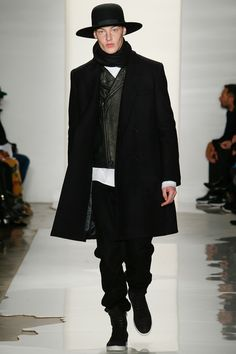 Leather Jacket Layer at Public School Fall Winter 2014 07