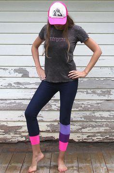 SIREN x Salt Gypsy Surf SUP Yoga Leggings - Magenta Melon