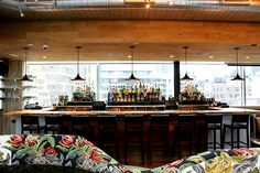 Monarch rooftop bar. Plaster work on bar front completed by Urban Walls Design Systems, NYC.