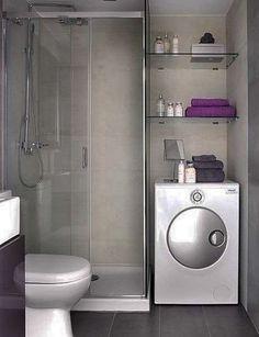 Banheiro funcional: para apartamentos pequenos ou sem área de serviço.