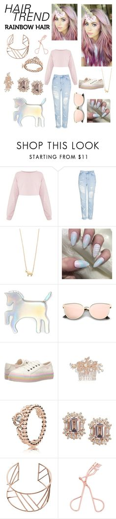 """Unicorn girl"" by jordynthefriend ❤ liked on Polyvore featuring beauty, Topshop, Ariel Gordon, WithChic, Rocket Dog, Nina, Pandora and John Lewis"