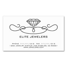 308 best jeweler business cards images on pinterest business cards elegant jewelers diamond business card colourmoves