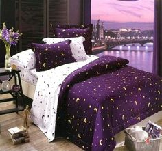 Purple bed set
