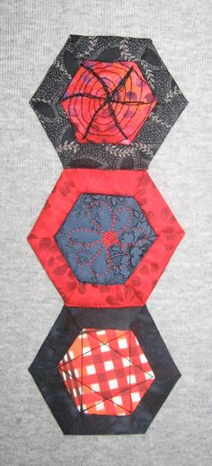 Hexagon Quilting: A Different Kind of Nut | Quilty Pleasures Blog