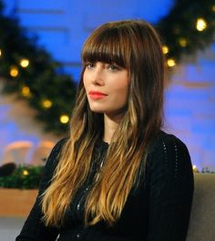 Fighting the urge to cut bangs again. This doesn't help. Her hair is legit.