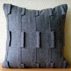 ON SALE Decorative Throw Pillow Covers Accent Pillows Sofa Couch Pillow Cases Inches Felt Pillow Cover Grey Sophistication Bedding Hom Grey Throw Pillows, Grey Cushions, Couch Pillows, Throw Pillow Covers, Accent Pillows, Pillow Cases, Funky Cushions, Pillow Shams, Modern Pillow Covers