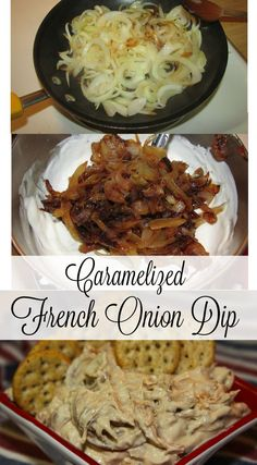 Caramelized French Onion Dip - a creamy, low fat appetizer made with Greek…