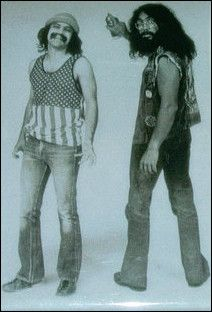 """Cheech And Chong """"Black And White"""" Magnet"""