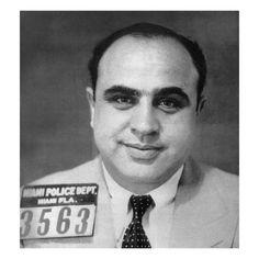 Al Capone Mug Shot 1931 Vertical Canvas Print / Canvas Art by Tony Rubino Real Gangster, Mafia Gangster, Italian Gangster, Al Capone, Gabriel, Einstein, Chicago Outfit, Rare Historical Photos, New York Studio
